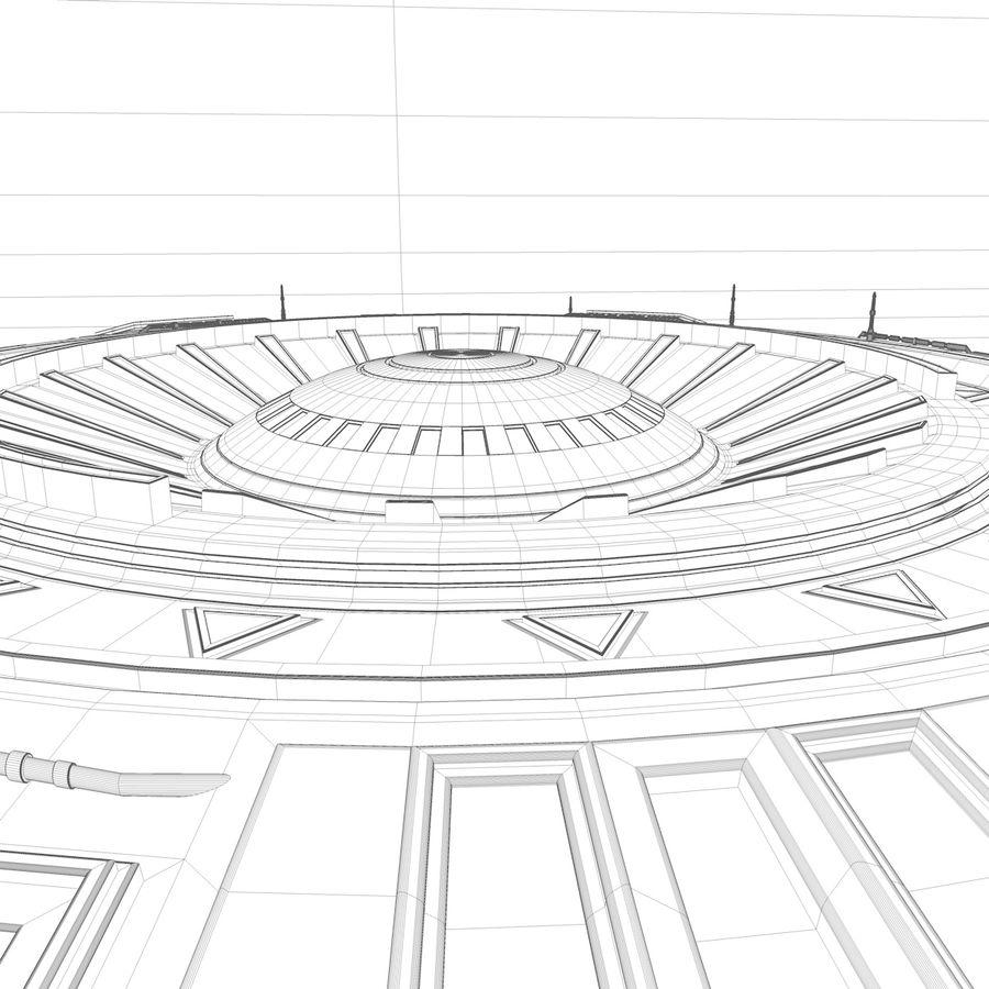 Statek kosmiczny UFO royalty-free 3d model - Preview no. 8