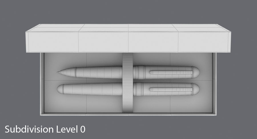 Pen Set royalty-free 3d model - Preview no. 13