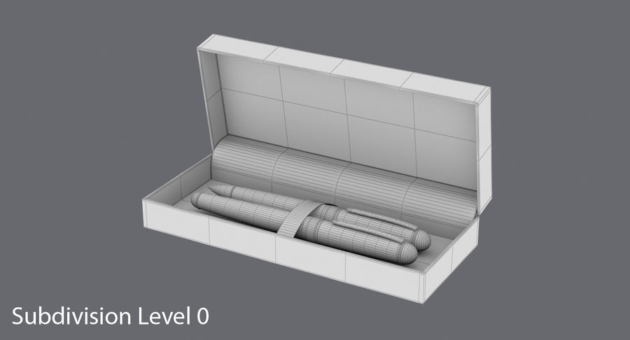 Pen Set royalty-free 3d model - Preview no. 17