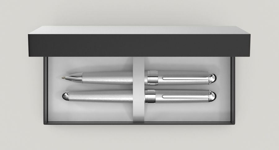 Pen Set royalty-free 3d model - Preview no. 4