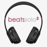 Beats Solo3 trådlösa hörlurar 3d model