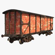 Realistische oude trein auto 3d model
