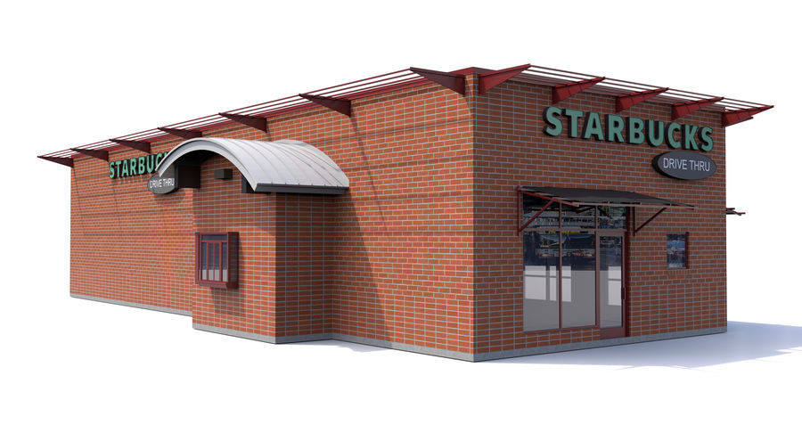Starbucks royalty-free 3d model - Preview no. 1
