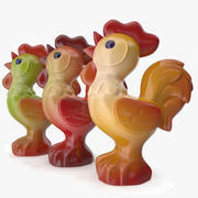 Plastic Toy  Rooster 3d model