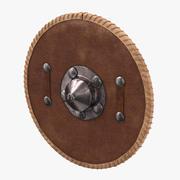 Средневековый кожаный щит 3d model