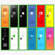 Social Network Lockers 3d model