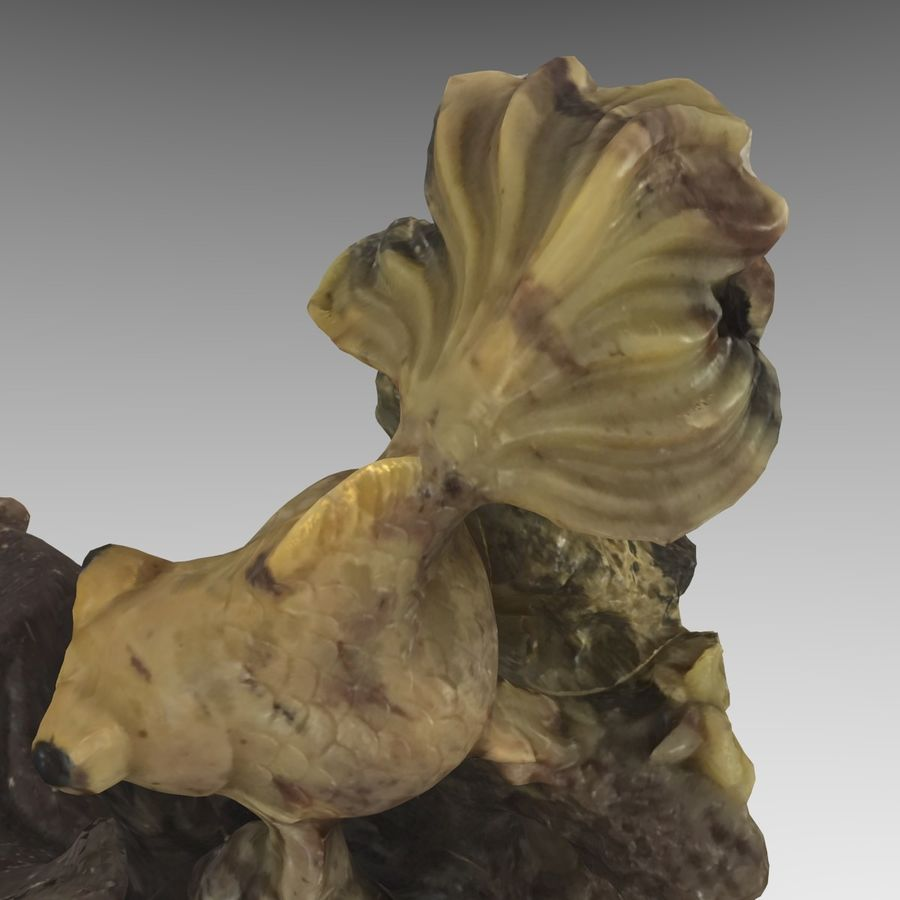 Chinese Fish Statue royalty-free 3d model - Preview no. 10