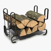 Pile de bois de chauffage 2 3d model