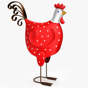 French Decorative Rooster 3d model