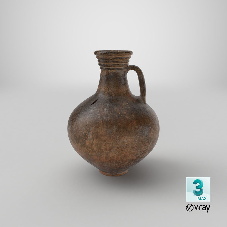 Brocca per vino in ceramica 01 royalty-free 3d model - Preview no. 20