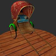 hand rickshaw 3d model