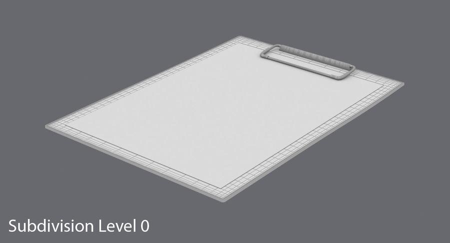 クリップボード royalty-free 3d model - Preview no. 12
