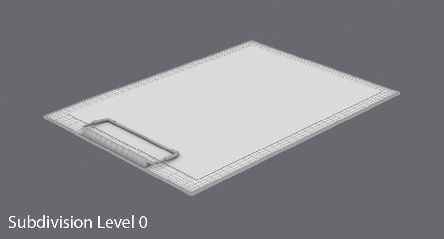 クリップボード royalty-free 3d model - Preview no. 14