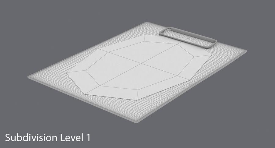 クリップボード royalty-free 3d model - Preview no. 15