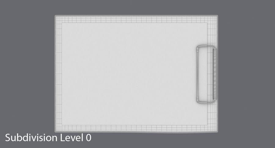クリップボード royalty-free 3d model - Preview no. 13