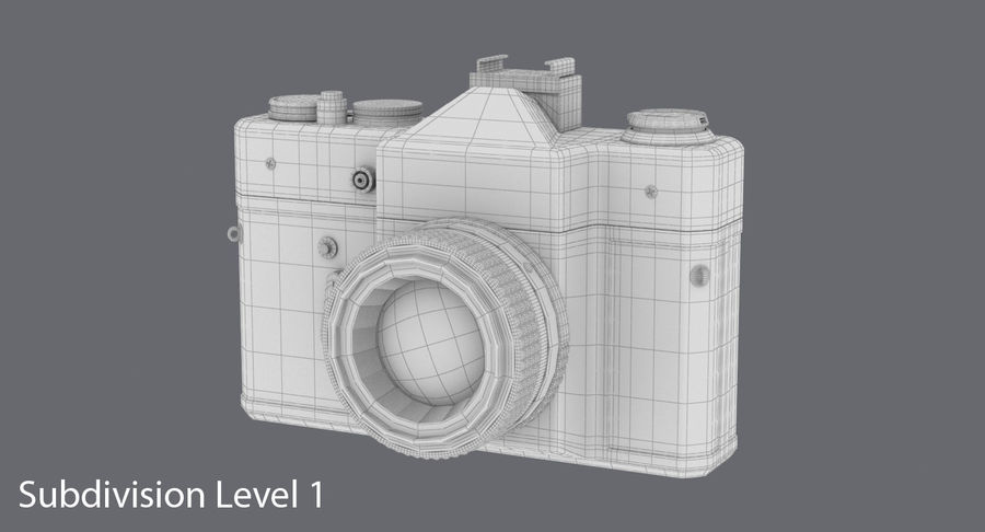 Appareil photo reflex royalty-free 3d model - Preview no. 15