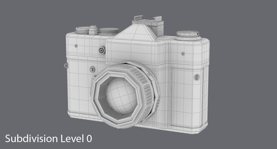Cámara réflex royalty-free modelo 3d - Preview no. 14