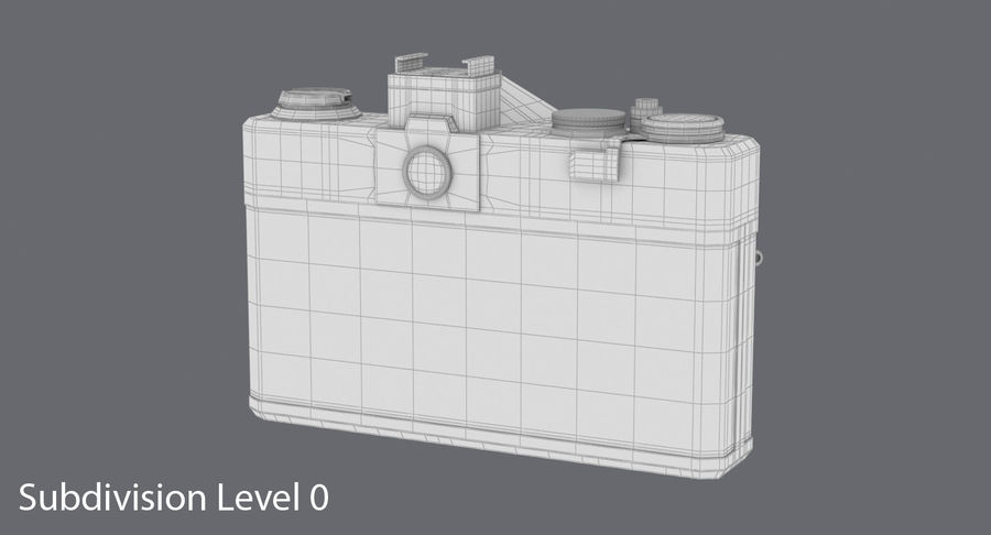 Cámara réflex royalty-free modelo 3d - Preview no. 18