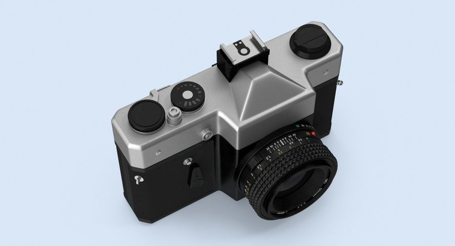Câmera SLR royalty-free 3d model - Preview no. 6