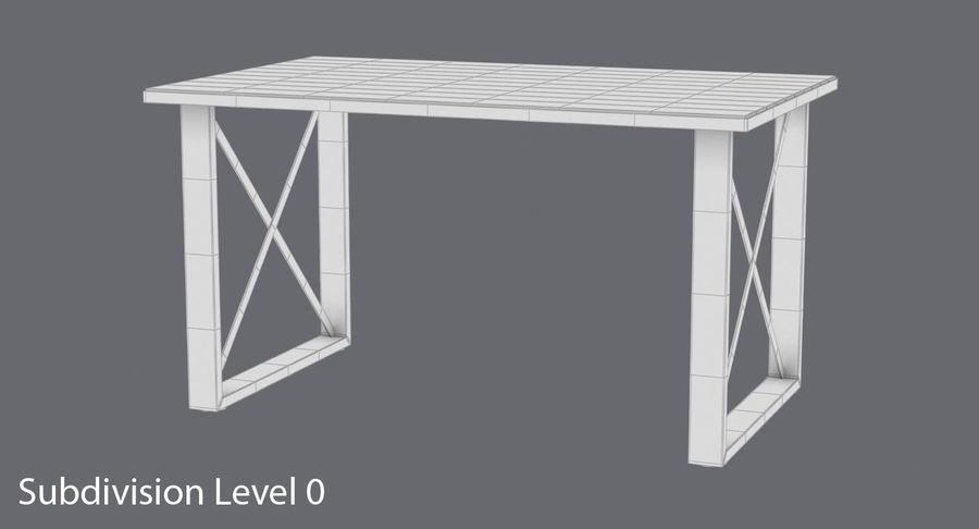 Desk 3 royalty-free 3d model - Preview no. 12