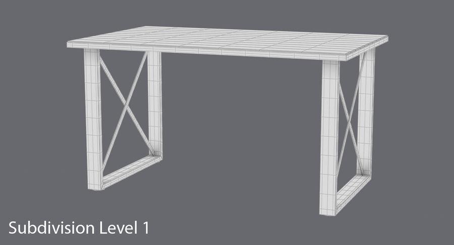 Desk 3 royalty-free 3d model - Preview no. 15