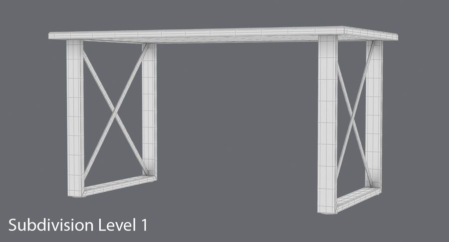 Desk 3 royalty-free 3d model - Preview no. 1