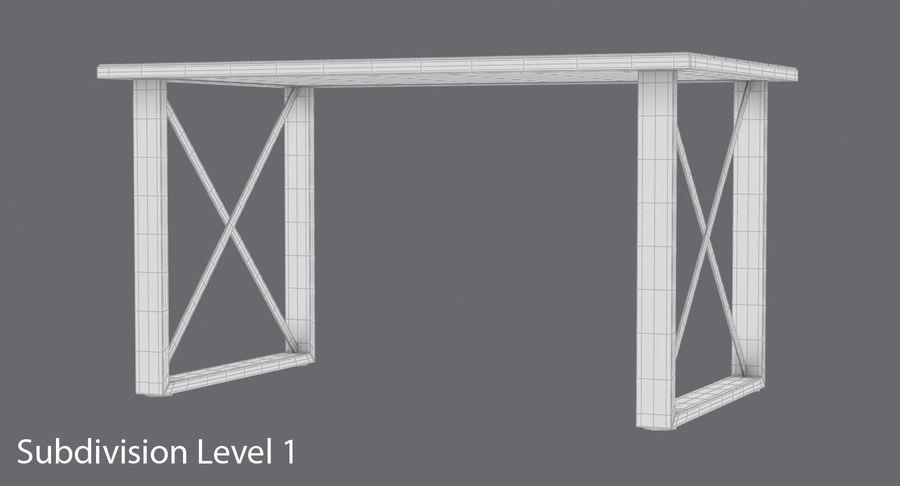 Desk 3 royalty-free 3d model - Preview no. 17