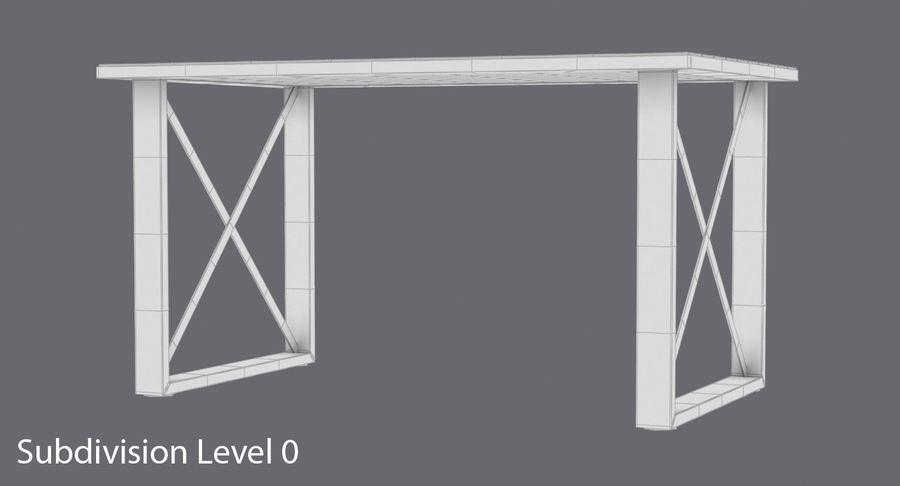 Desk 3 royalty-free 3d model - Preview no. 14