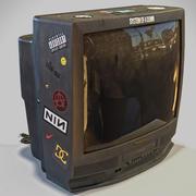 CRT-Fernseher 3d model