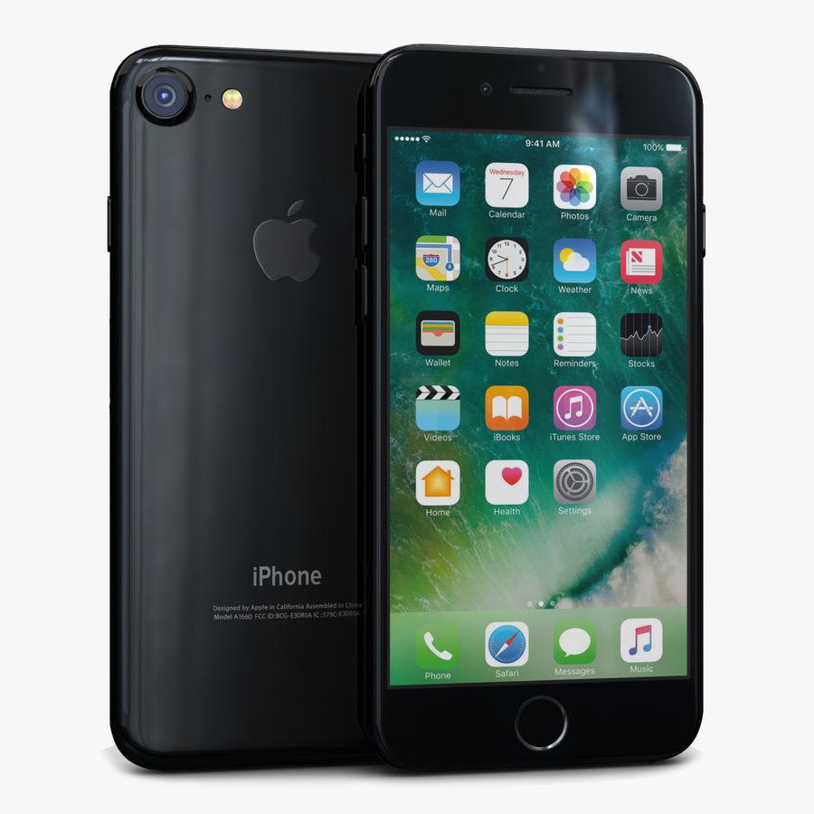 Apple iPhone 7 Jet Black Modelo 3D $49 - .max .obj .fbx .c4d .3ds - Free3D