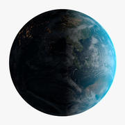 Photorealistic Earth 32K with Atmosphere 3d model