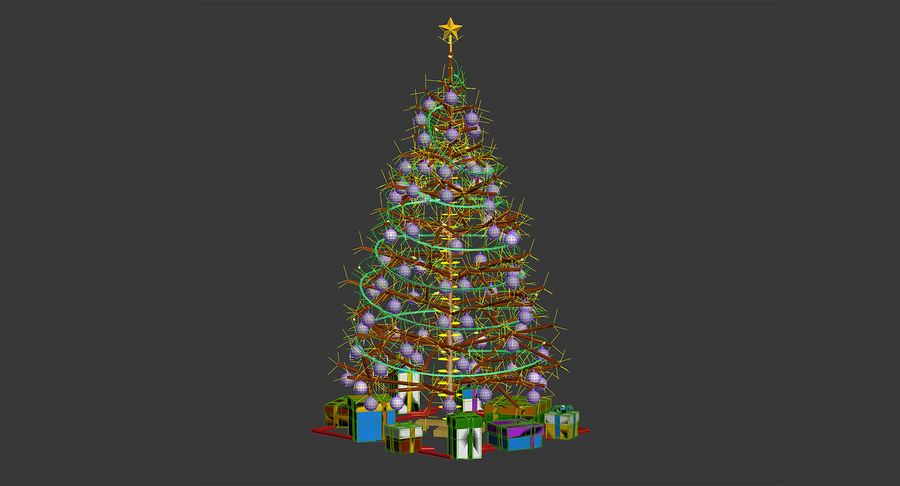 Weihnachtsbaum royalty-free 3d model - Preview no. 19