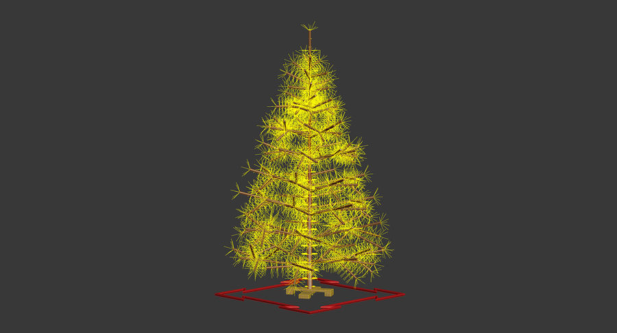 Weihnachtsbaum royalty-free 3d model - Preview no. 17