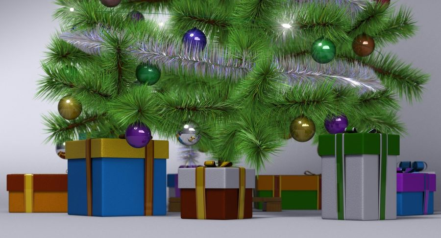 Weihnachtsbaum royalty-free 3d model - Preview no. 4