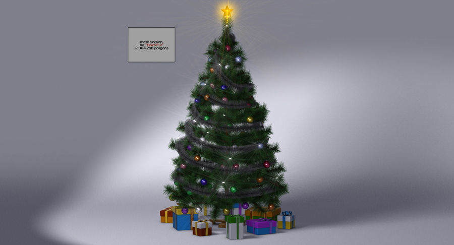 Weihnachtsbaum royalty-free 3d model - Preview no. 16