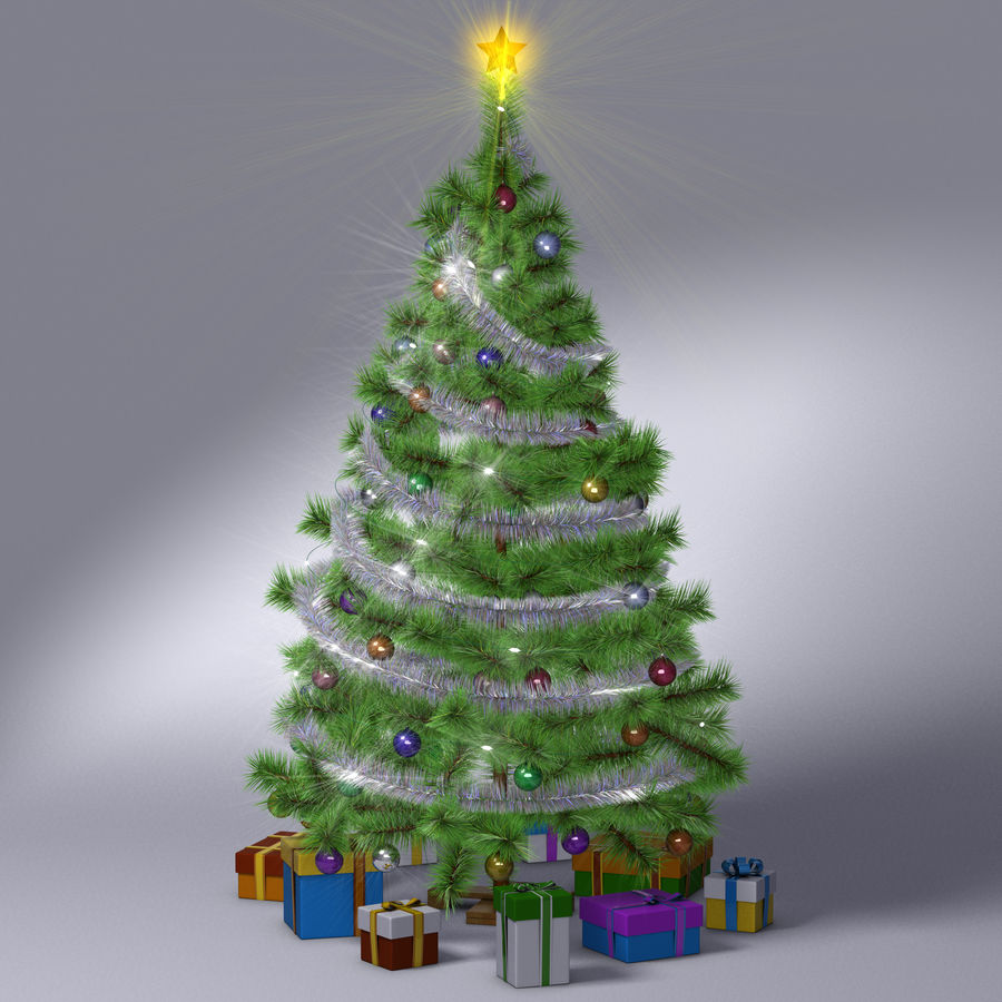 Weihnachtsbaum royalty-free 3d model - Preview no. 15