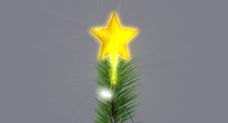 Weihnachtsbaum royalty-free 3d model - Preview no. 13