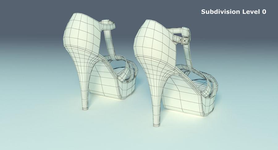 Tacones altos royalty-free modelo 3d - Preview no. 12