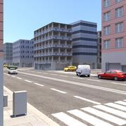 低ポリ都市 3d model