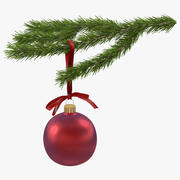Рождественская еловая ветка 4 3d model