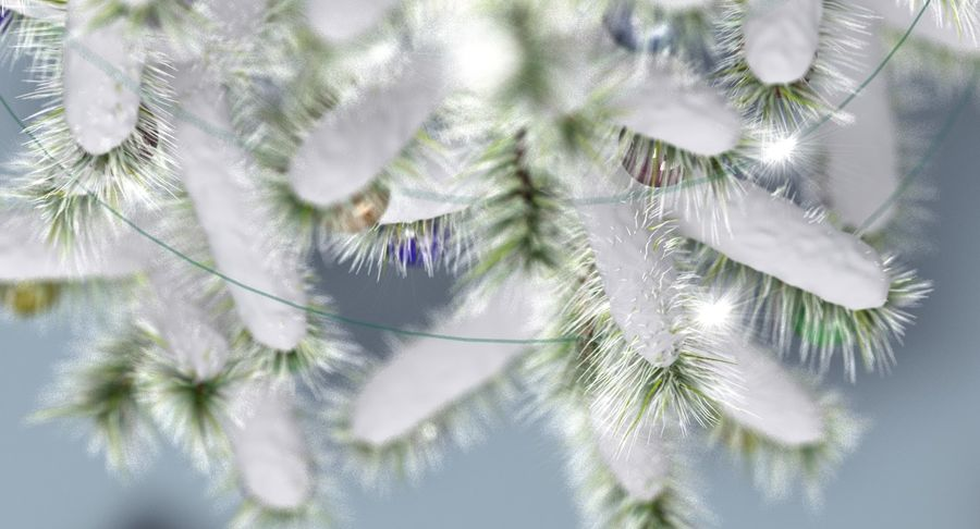Christmas Tree (snow frost) royalty-free 3d model - Preview no. 7