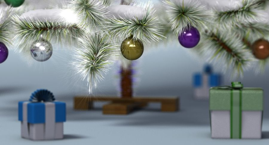 Christmas Tree (snow frost) royalty-free 3d model - Preview no. 6