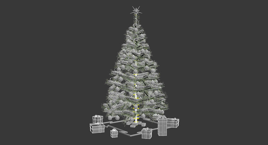 Christmas Tree (snow frost) royalty-free 3d model - Preview no. 17