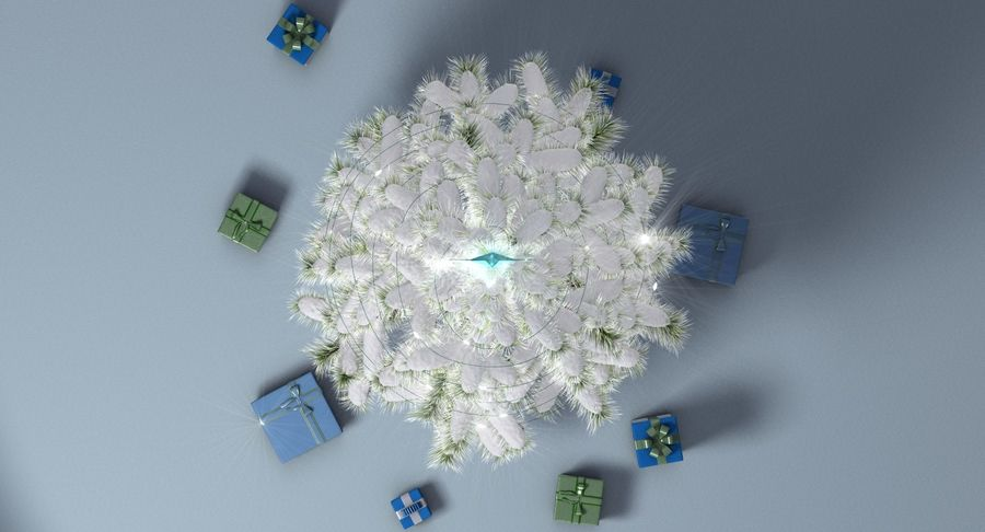 Christmas Tree (snow frost) royalty-free 3d model - Preview no. 11