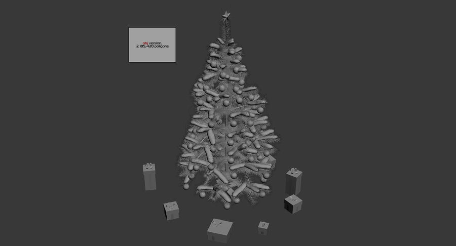 Christmas Tree (snow frost) royalty-free 3d model - Preview no. 16