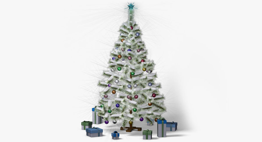 Christmas Tree (snow frost) royalty-free 3d model - Preview no. 2