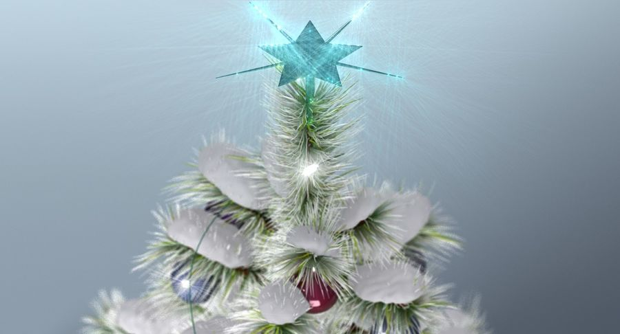 Christmas Tree (snow frost) royalty-free 3d model - Preview no. 5