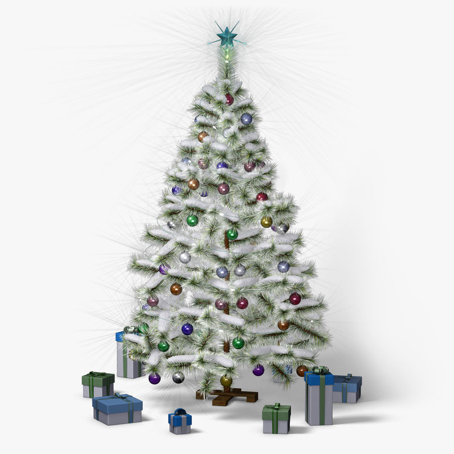 Christmas Tree (snow frost) royalty-free 3d model - Preview no. 1