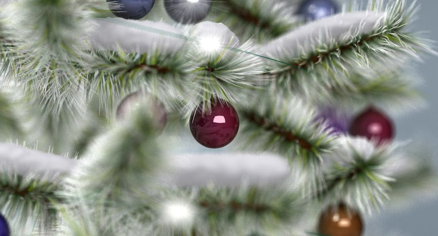 Christmas Tree (snow frost) royalty-free 3d model - Preview no. 8