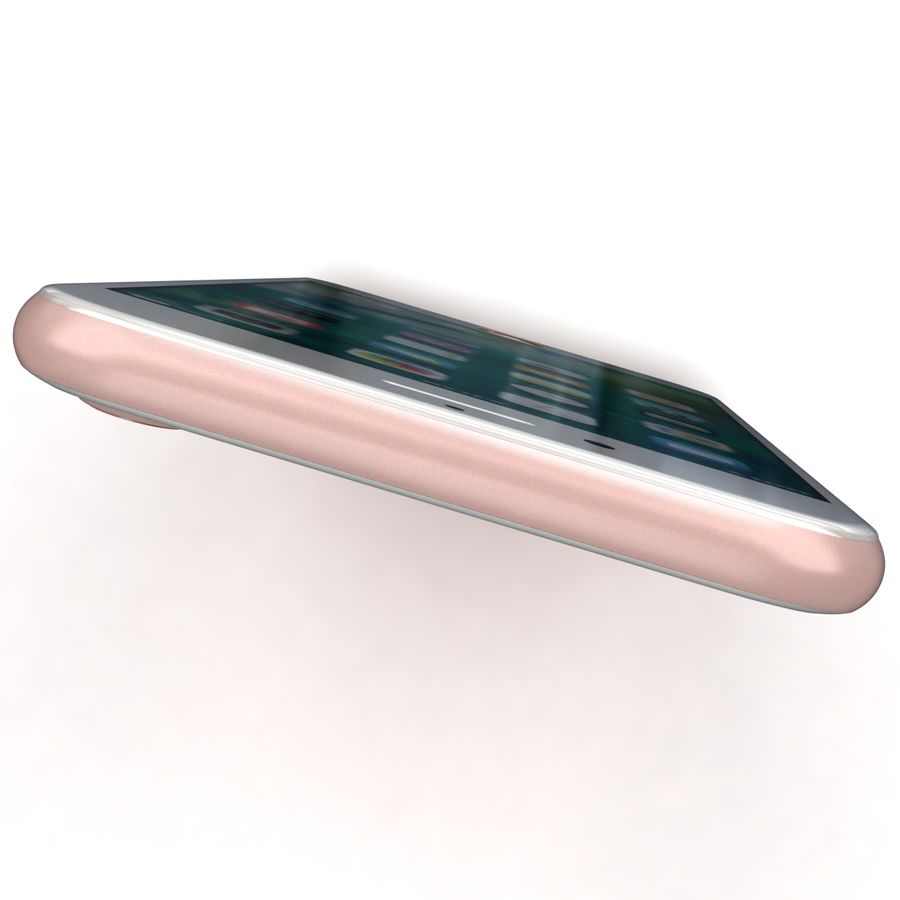 Apple iPhone 7 Gül Altın royalty-free 3d model - Preview no. 23